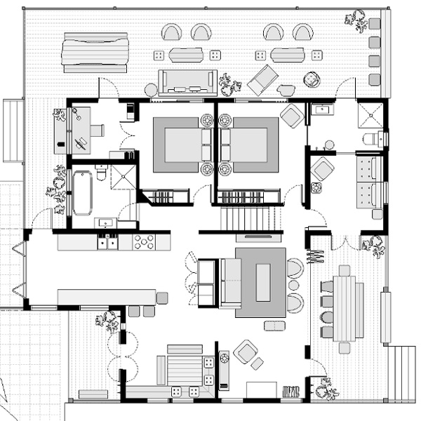 Ground Floor Furniture Plan