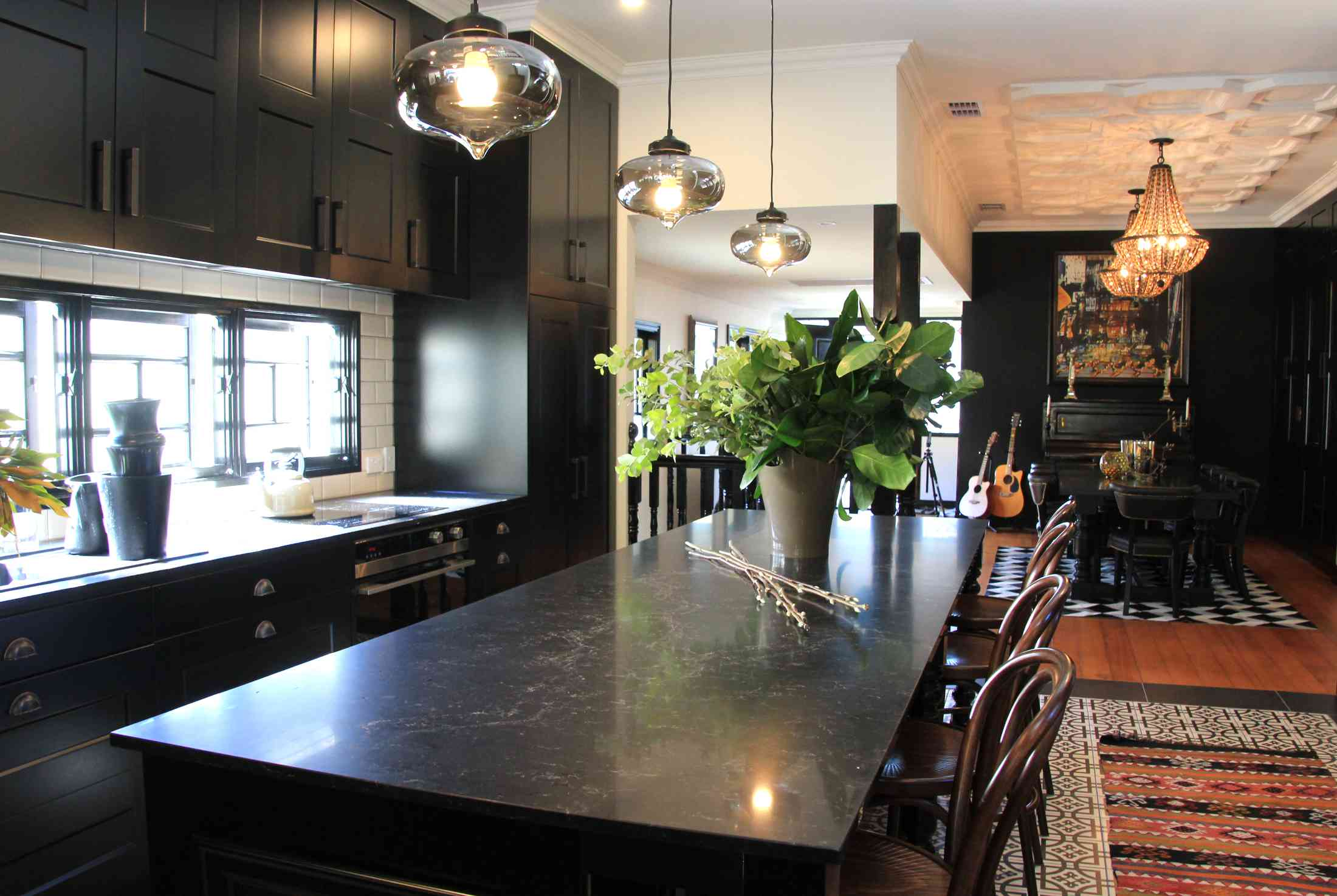 Black modern traditional kitchen design