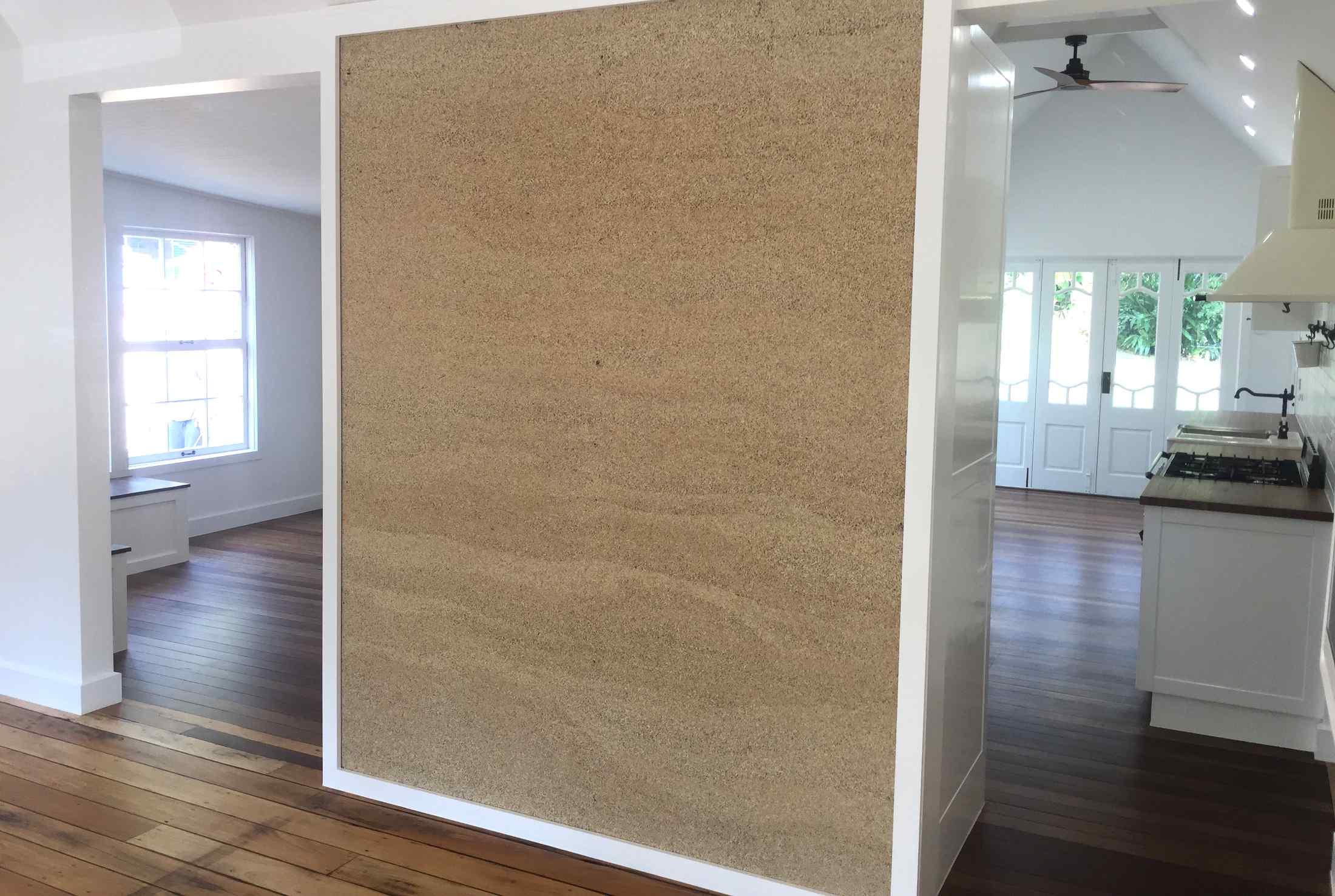 New feature hemp wall