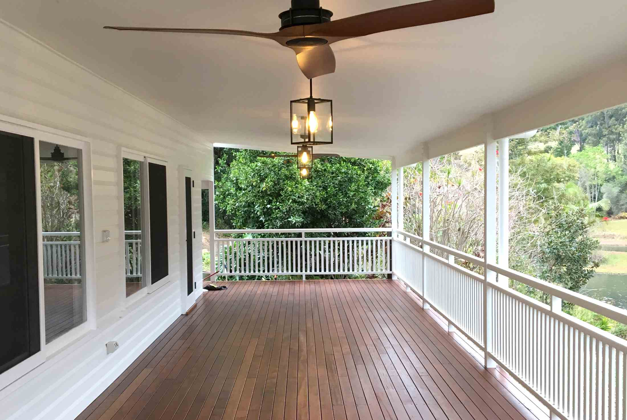 New covered deck to western elevation