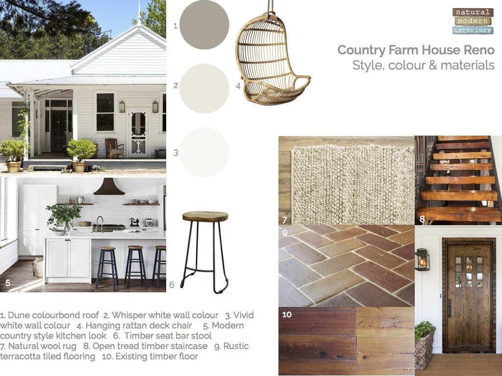 Country farm house renovation ideas-mood board