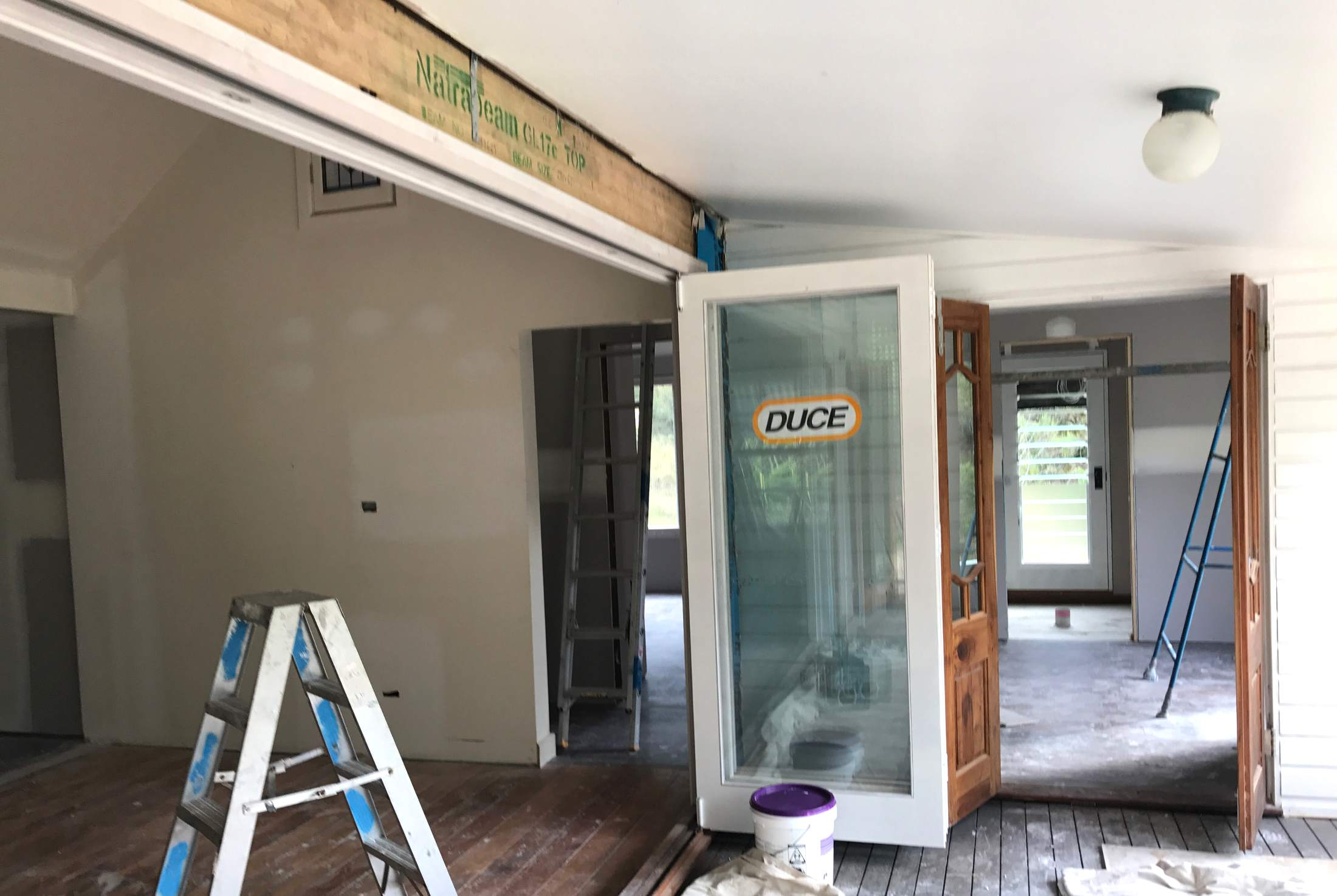 On site- new bi-fold doors going in